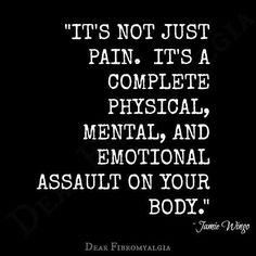 Very true. Chronic illness sucks