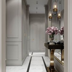 53 super ideas for home luxury decor entrance Luxury Homes Interior, Luxury Home Decor, Home Interior, Flur Design, Hall Design, Halls, Modern Hall, Hallway Designs, Hallway Ideas