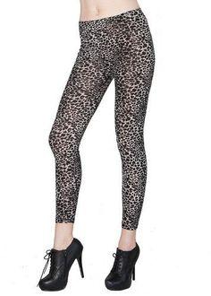 Cute Dark Leopard Print Leggings Living Socks. $14.95. Save 63% Off!