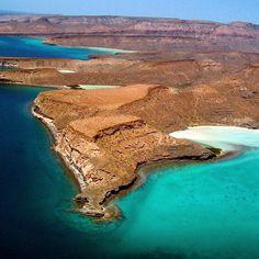 The other worldly profile & colors of Isla Espiritu Santo off La Paz. #islands #mexico #travel by allmexico365