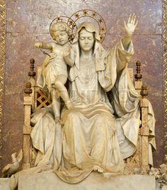 Madonna de la Pace statue in Santa Maria Maggiore, Rome. Google Image Result for http://images.colourbox.com/thumb_COLOURBOX3933202.jpg