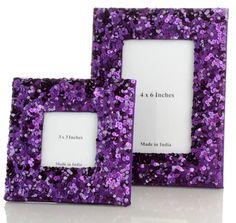 pretty purple frames to go in my imaginary purple bedroom