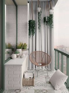 Scandinavian style interior infused with garden green and terrace outd . Scandinavian style interior infused with garden green and terrace outdoor living Apartment Balcony Decorating, Apartment Balconies, Cozy Apartment, Apartment Interior, Interior Balcony, Bedroom Balcony, Condo Balcony, Interior Garden, Diy Bedroom