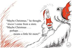 My favorite Christmas quote!  Definitely in light of the recent shopping craze :/