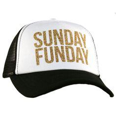 567ab08ef1f Sunday Funday Glitter Trucker Hat