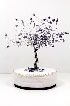 When Two Become One Wedding Cake Topper Tree Custom Wire Sculpture on Etsy, $55.00