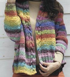 Cable Knitting, Fair Isle Knitting, Crochet Jacket, Knit Or Crochet, Creative Knitting, Stitch Fit, Jacket Pattern, Knitting Patterns, Sweaters For Women