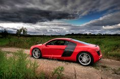 red audi R8 // the storm is over.