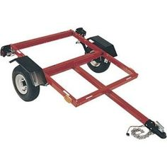 This article about building your own motorcycle trailer seems very helpful.  I'd like to make this a shop project soon.