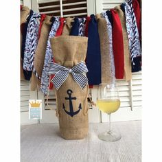 Will You Be My Bridesmaid Burlap Wine Bag by QueensBanners on Etsy