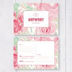 Einladungskarten - **50erPack Antwortkarten** - ein Designerstück von…