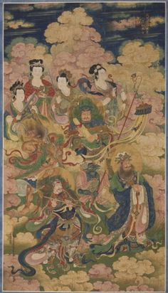 The Eight Hosts of Celestial Nagas and Yakshis, 1454 China, Ming dynasty (1368-1644)