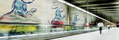António Dacosta   Estação / Station Cais do Sodré   Metropolitano de Lisboa / Lisbon Underground   1998 #Azulejo #AntónioDacosta #MetroDeLisboa