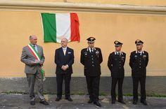 Il sindaco Mauro Mazzola ha partecipato questa mattina alla cerimonia di scopertura della targa donata dal Lions Club di Tarquinia ai Carabinieri, per il bicentenario dell'Arma.