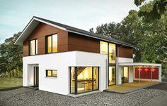 Fassade Verkleidung Elegante Architektur mit Satteldach – von Bittermann & Weiss Holzhaus | Haus & Bau | zuhause3.de