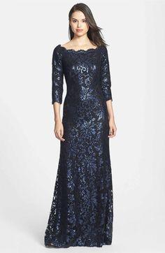 Main Image - Tadashi Shoji Embellished Lace Gown