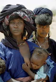 Africa | Wodaabe women and children at the Gerewol festival. Niger | © Burgstad, via National Geographic Community