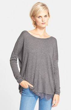Joie 'Yael' Lace Hem Sweater available at #Nordstrom