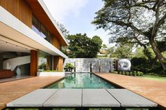 House by ONG. Located in Singapore, the home has an interior that is at once warm and luminous.