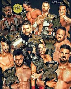 NXT Champions Big E Langston, Adrian Neville, Sami Zayne, Bo Dallas, Seth Rollins, Kevin Owens, Samoa Joe, Finn Bàlor, Shinsuke Nakamura, and Bobby Roode