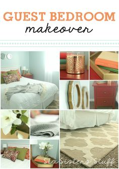 Guest Bedroom Makeover from SixSistersStuff.com. Such a major transformation!