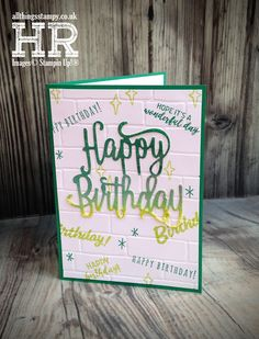 All Things Stampy: Happy Birthday Thinlits graffiti card