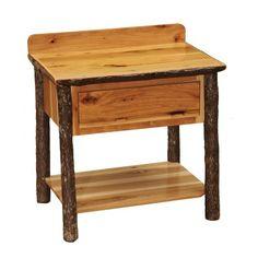 Fireside Lodge Furniture Hickory Open Shelf #Vanity with Liquid Glass Top #rusticfurniture #rustic    http://www.santaferanch.com/