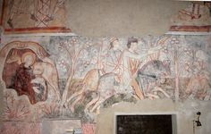 Weisspriach-st.rupert-fresken-aegidiuslegende2-dwr - Category:Saint Giles - Wikimedia Commons  Church St. Rupert in Weißpriach Lungau/Austria - Romanesque frescos: The Miracle of Saint Giles 2