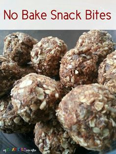 No-Bake Healthy Snack Bites - I use about half as much honey, half as much flax seed, and rolled oats (not quick oats).  I always make a double batch. These are my go-to pre-workout snack for those early AM workouts.  My kids love them too!