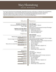 Black Tie - Free Resume Template by Hloom.com