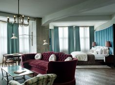 Soho Berlin, Germany  Love the light fixtures - creative dining fixture #boutiquehotelsinspiration