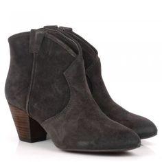 Ash JALOUSE woodash suede ankle boots