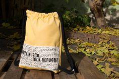 Shops, Drawstring Backpack, Backpacks, Bags, Fashion, Pagan, Yellow, Handbags, Moda