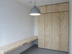 www.vandekeijzer.com Making & Invent | Furniture | Inside & Outside Cabinet | Desk out of Ply-Wood by VanDe Keijzer Cabinet: Heigth 305 x Depth 60 x Wide 200 Desk: Length 335 x Depth 58