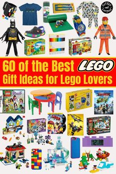 Does your child love to play and build with Legos? Encourage their love for Legos with this list of the top 60 gifts for kids in 2020! You can find something at every price point in our big list. A gift guide for the Christmas season that you won't want to miss. #lego #legobuilders #legogifts #legoholidaygifts #legos #coffeeandcarpool #holidaygiftguides