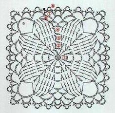 Anabelia craft design: Japanese square crochet coasters, free pattern