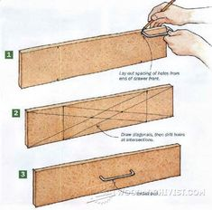 Drawer pull layout Announcing: The World's Largest Collection of Woodworking Plans! tedswoodworking-t… The post Drawer pull layout Announcing: The World's Lar… appeared first on Pinova. Diy Projects Plans, Easy Wood Projects, Woodworking Projects Diy, Woodworking Techniques, Project Ideas, Woodworking Patterns, Woodworking Organization, Woodworking Supplies, Learn Woodworking