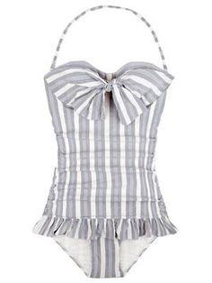 retro bow swimsuit