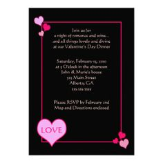 107 Best Valentines Day Invitations Images Valentines Day