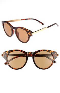 A.J. Morgan Retro Sunglasses available at #Nordstrom... (tortoise)