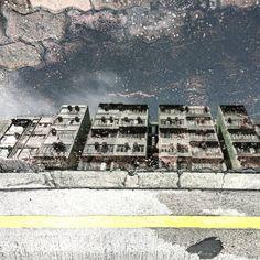 """""""HONG KONG \ Residensity in a puddle  #residensity #urbanarchitecture #puddlegram #hongkong"""""""