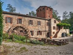 Tuscany Chiusdino( Chiusdino is a Medieval town in the province of Siena Tuscany,Italy. This is where the Battery Mill is located. This Mill used to supply electricity to Chiusdino. By Italy-Landscape & art.