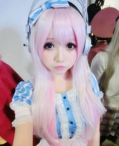 Super Sonico Cosplay - You can Definitely Outstanding with These Items Harajuku Fashion, Kawaii Fashion, Cute Fashion, Harajuku Style, Lolita Fashion, Cosplay Outfits, Cosplay Wigs, Cosplay Costumes, Anime Cosplay
