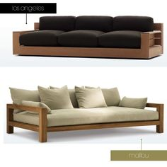 Moderne Outdoor-Sofa-Couch - Home & Garden - Sofas Diy Sofa, Sofa Couch, Wood Sofa, Couch Furniture, Living Room Furniture, Furniture Design, Living Rooms, Wooden Couch, Baker Furniture