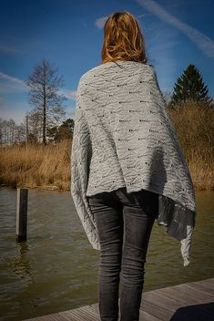 Reversible textured shawl knitting pattern. Summer Breeze by Sabine Frisch knit using The Fibre Co. Meadow