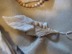 Handmade christmas vintage wedding gowns and christmas ornament on