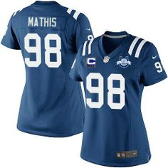 44e167e9e (Elite Nike Women s Robert Mathis Royal Blue C Patch Jersey) Indianapolis  Colts Home NFL Seasons Patch Easy Returns.