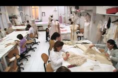 workroom -  draping, pattern cutting, sewing, all the intricate work that goes into each garment happens here