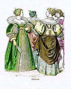 Plate #59c - Mid-Seventeenth Century - France. Noblewomen