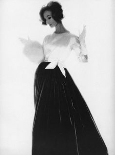 Evelyn Tripp. Photo: Lillian Bassman, 1958.